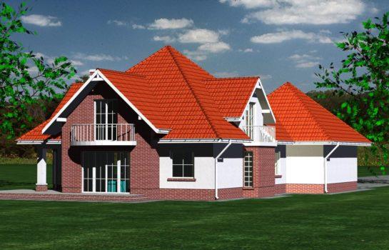 Projekt gotowy budynku mieszkalnego jednorodzinnego piętrowy dom 215 widok 4
