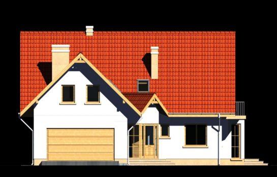 Projekt gotowy budynku mieszkalnego jednorodzinnego piętrowy dom 225 elewacja 1