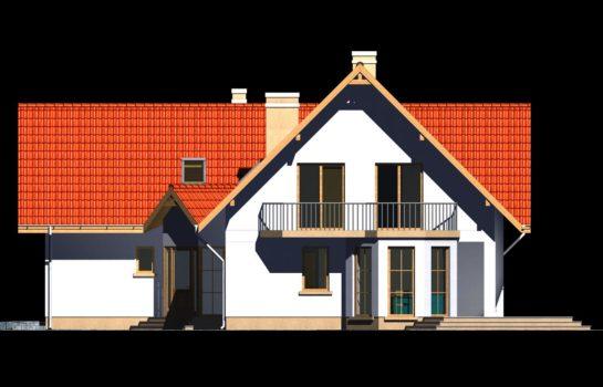 Projekt gotowy budynku mieszkalnego jednorodzinnego piętrowy dom 225 elewacja 2