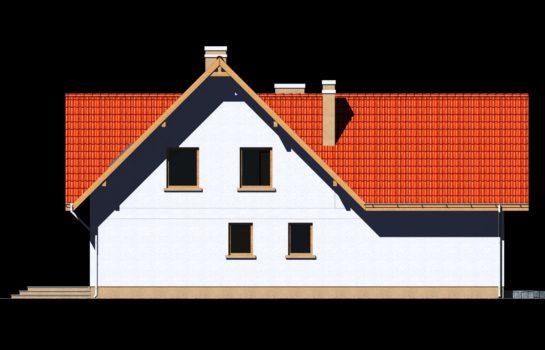 Projekt gotowy budynku mieszkalnego jednorodzinnego piętrowy dom 225 elewacja 4