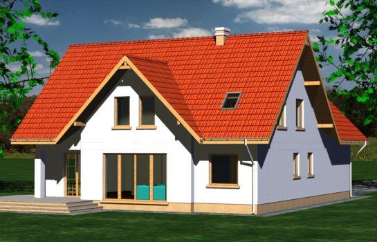 Projekt gotowy budynku mieszkalnego jednorodzinnego piętrowy dom 225 widok 3