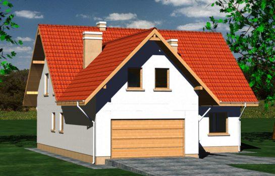 Projekt gotowy budynku mieszkalnego jednorodzinnego piętrowy dom 225 widok 4