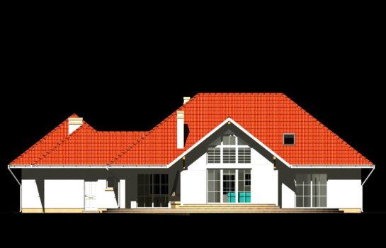 Projekt gotowy budynku mieszkalnego jednorodzinnego piętrowy dom 240 elewacja 1