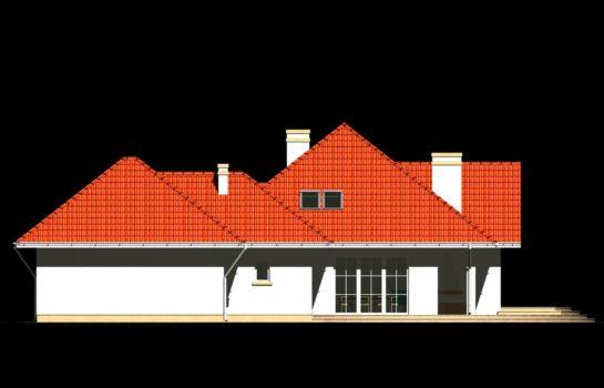 Projekt gotowy budynku mieszkalnego jednorodzinnego piętrowy dom 240 elewacja 2