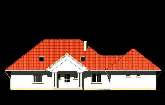 Projekt gotowy budynku mieszkalnego jednorodzinnego piętrowy dom 240 elewacja 3