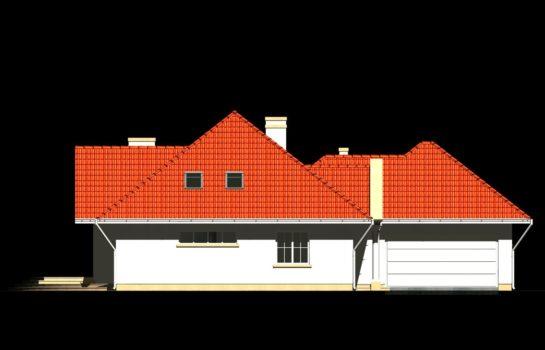 Projekt gotowy budynku mieszkalnego jednorodzinnego piętrowy dom 240 elewacja 4