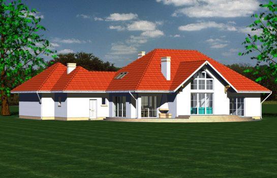 Projekt gotowy budynku mieszkalnego jednorodzinnego piętrowy dom 240 widok 1