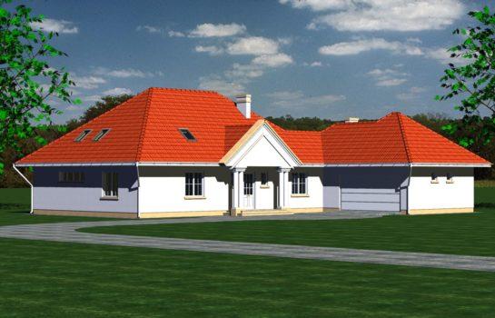 Projekt gotowy budynku mieszkalnego jednorodzinnego piętrowy dom 240 widok 2