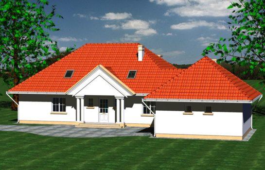 Projekt gotowy budynku mieszkalnego jednorodzinnego piętrowy dom 240 widok 3