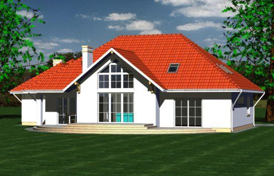 Projekt gotowy budynku mieszkalnego jednorodzinnego piętrowy dom 240 widok 4