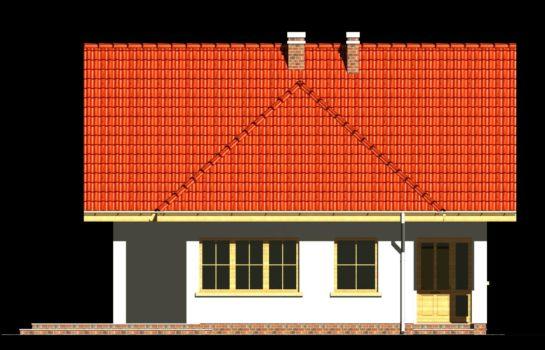 Projekt gotowy budynku mieszkalnego jednorodzinnego piętrowy dom 247 elewacja 1