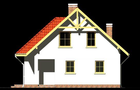 Projekt gotowy budynku mieszkalnego jednorodzinnego piętrowy dom 247 elewacja 3