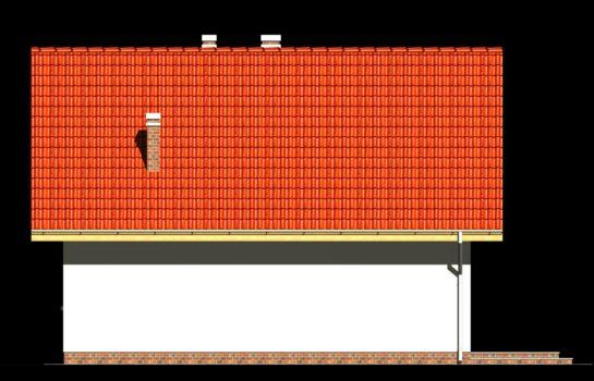 Projekt gotowy budynku mieszkalnego jednorodzinnego piętrowy dom 247 elewacja 4