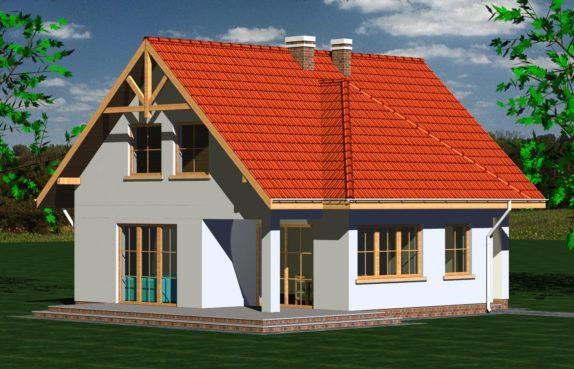 Projekt gotowy budynku mieszkalnego jednorodzinnego piętrowy dom 247 widok 1