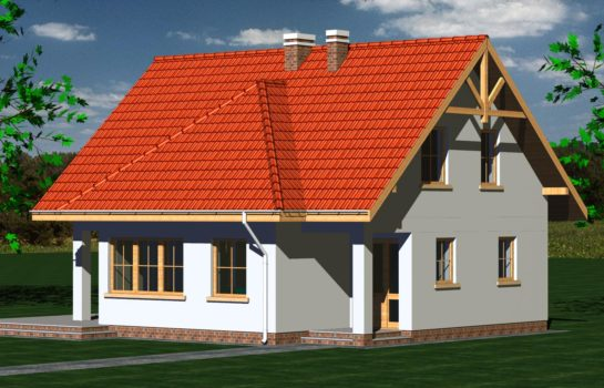 Projekt gotowy budynku mieszkalnego jednorodzinnego piętrowy dom 247 widok 2