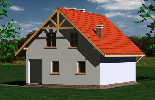 Projekt gotowy budynku mieszkalnego jednorodzinnego piętrowy dom 247 widok 3
