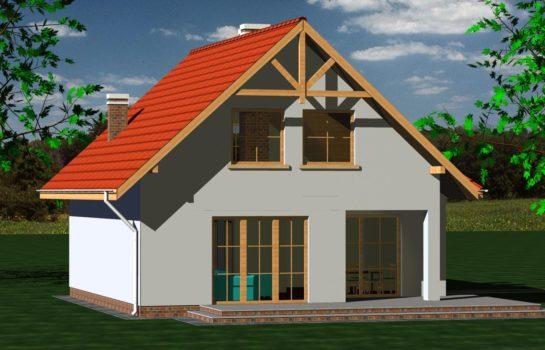 Projekt gotowy budynku mieszkalnego jednorodzinnego piętrowy dom 247 widok 4