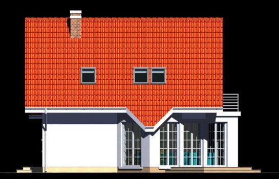Projekt gotowy budynku mieszkalnego jednorodzinnego piętrowy dom 257 elewacja 1