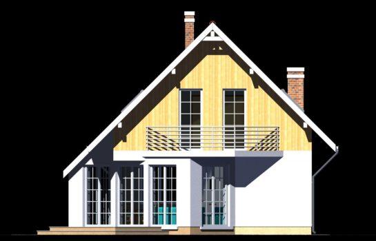 Projekt gotowy budynku mieszkalnego jednorodzinnego piętrowy dom 257 elewacja 2
