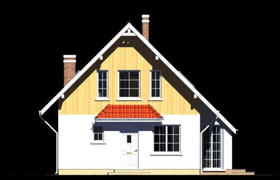 Projekt gotowy budynku mieszkalnego jednorodzinnego piętrowy dom 257 elewacja 3