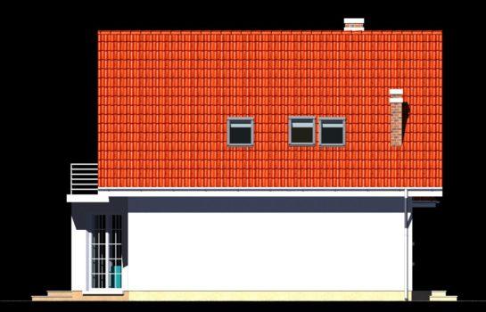 Projekt gotowy budynku mieszkalnego jednorodzinnego piętrowy dom 257 elewacja 4
