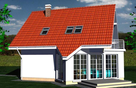 Projekt gotowy budynku mieszkalnego jednorodzinnego piętrowy dom 257 widok 1