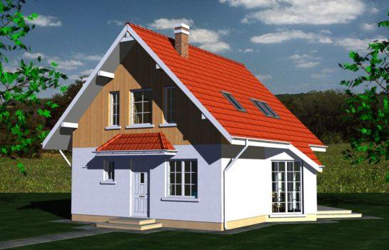 Projekt gotowy budynku mieszkalnego jednorodzinnego piętrowy dom 257 widok 2