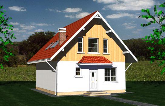 Projekt gotowy budynku mieszkalnego jednorodzinnego piętrowy dom 257 widok 3