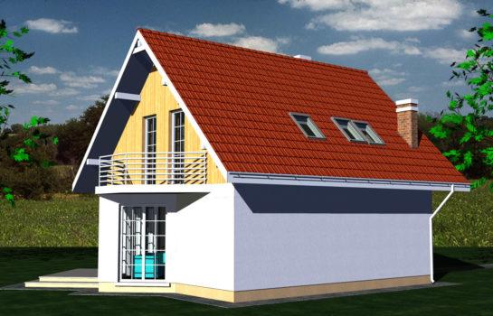 Projekt gotowy budynku mieszkalnego jednorodzinnego piętrowy dom 257 widok 4